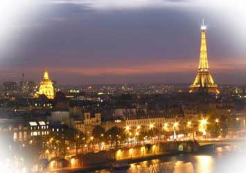 Paris panorama at night